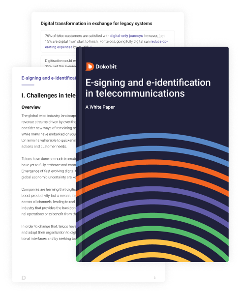 Thumbnail pages of E-signing and e-identification in telecommunications: A White Paper